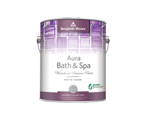 a benjamin moore paint can for bath and spa