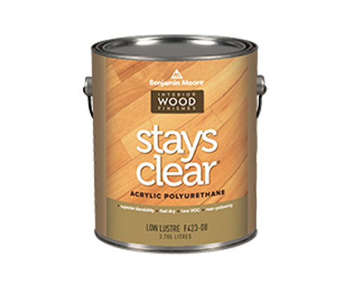 a benjamin moore paint can for stays clear